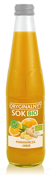 Sok z Pomarańczy i Imbiru Nfc Bio 330 Ml - Oryginalny Sok