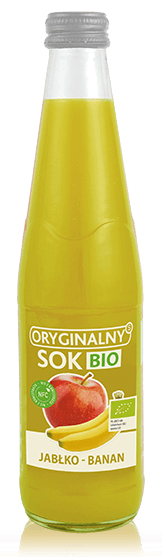 Sok z Jabłek i Bananów Nfc Bio 330 Ml - Oryginalny Sok