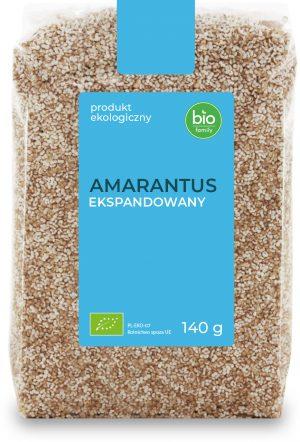 Amarantus Ekspandowany Bio 140 g - Bio Family