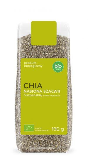 Chia - Nasiona Szałwii Hiszpańskiej Bio 190 g - Bio Family