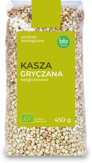 Kasza Gryczana Niepalona Bezglutenowa Bio 450 g - Bio Family