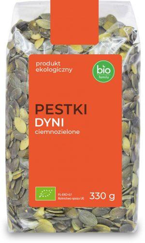 Pestki Dyni Ciemnozielone Bio 330 g - Bio Family