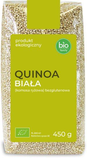 Quinoa Biała (Komosa Ryżowa) Bezglutenowa Bio 450 g - Bio Family