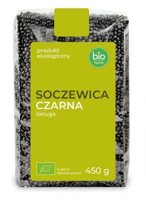 Soczewica Czarna Beluga Bio 450 g - Bio Family