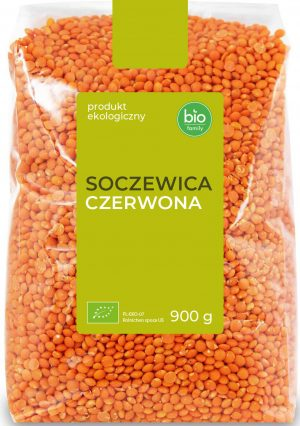Soczewica Czerwona Bio 900 g - Bio Family