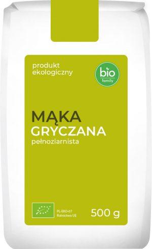 Mąka Gryczana Pełnoziarnista Bio 500 g - Bio Family