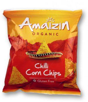 Chipsy Kukurydziane Chili Bio 75 g - Amaizin