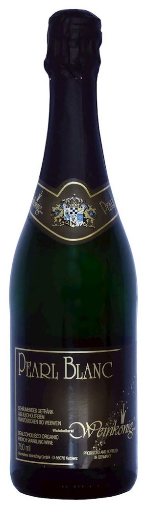 Wino Bezalkoholowe Białe Musujące Pearl Blanc Bio 750 Ml - Weinkoenig