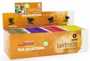 Herbatki Mix (Earl Grey, Owoce Leśne, Rooibos, Zielona Herbata) Fair Trade Bio (4 x 25 x 1,8 G) - Oxfam