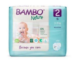 Pieluszki Jednorazowe Ekologiczne (2) Bambo Nature Mini (3-6 Kg), 30 szt.