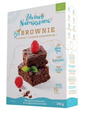 Brownie z Kakao i Cukrem Kokosowym Bio 290 g - Zdrowo Namieszane