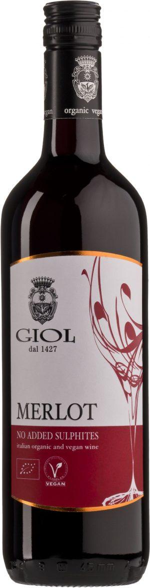 Wino Merlot Bez Dodatku Siarczynów Czerwone Wytrawne Bio 0,75 l (Włochy)