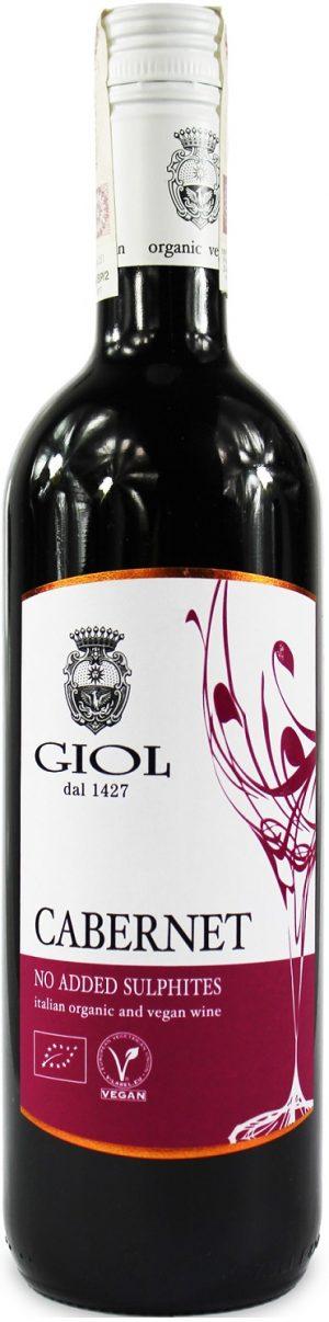 Wino Cabernet Bez Dodatku Siarczynów Czerwone Wytrawne Bio 0,75 l (Włochy)