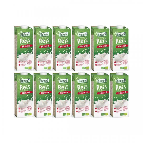 Zestaw 12 x Napój Ryżowy Bio 1 l - Natumi